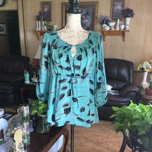 Beautiful 100% SILK Alfani blouse
